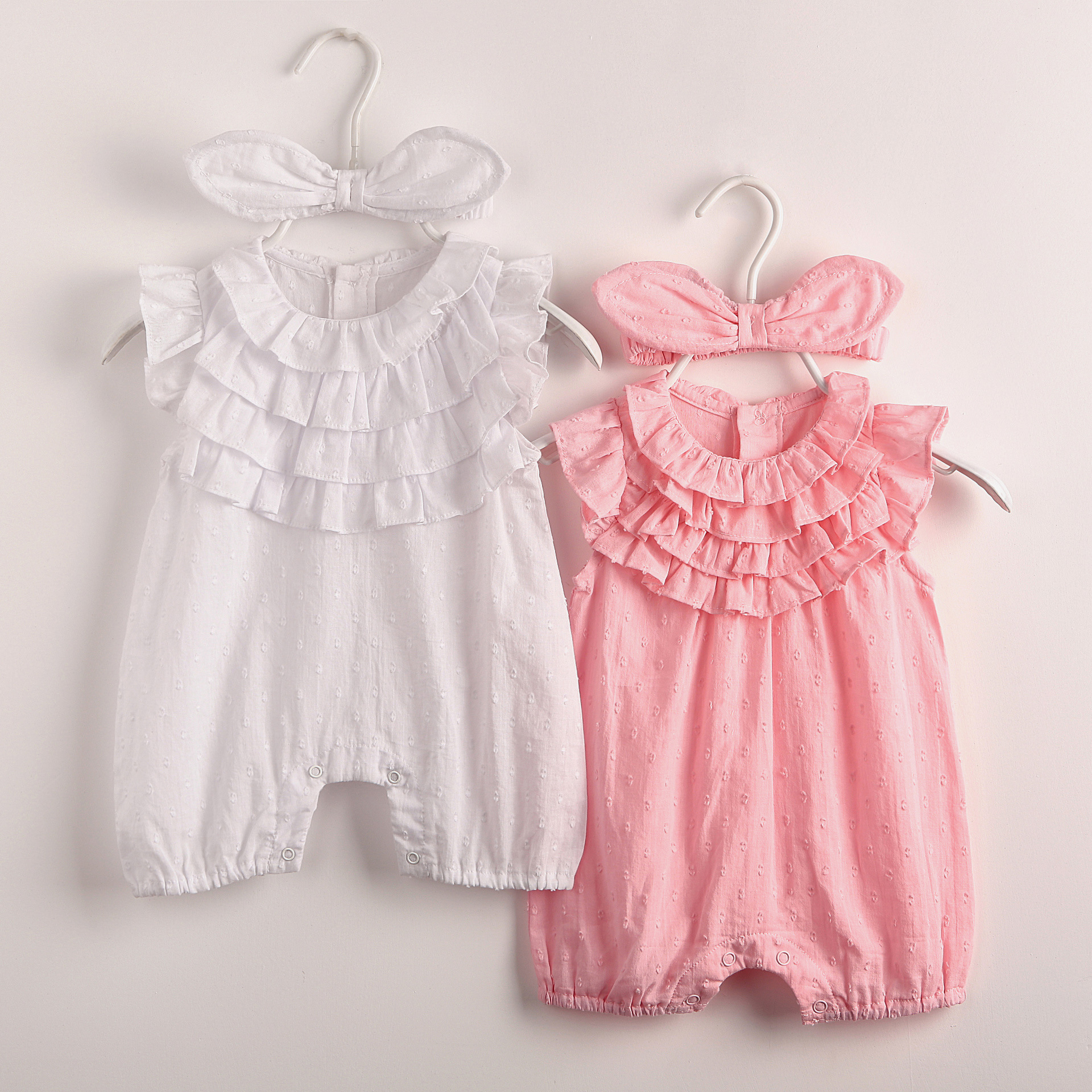 2017 Cute Newborn Baby Girl Rompers Summer Pajamas Sleeveless Ropa