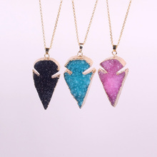 Fashion Pendant Rough Drusy