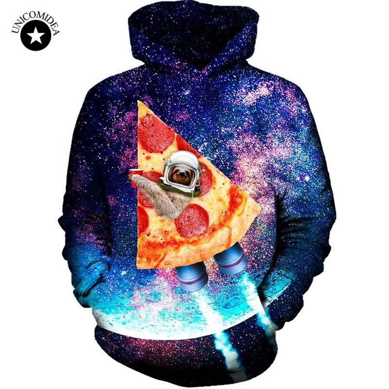 Dinosaur Sloth Galaxy Euro Size Men Hoodies Sweatshirts 3d Print Zipper Sweatshirts Cap Tops Men Hooded Nebula Jacket Dropship Men's Clothing