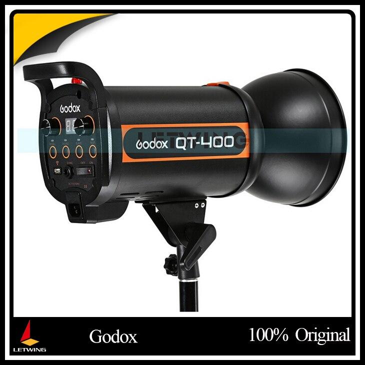 Gigh Скорость Godox 400 Вт студии вспышки для фотосъемки qt400 (400WS Профессиональные студийные вспышки света)