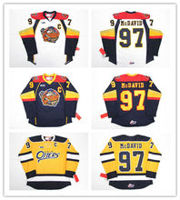 97 CONNOR McDAVID ERIE OTTERS Hockey Jersey Embroidery Stitched Customize  any number and name( 421febcd6