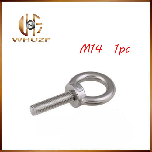 M14*20 304 Stainless Steel Lifting Eye Bolts Round Ring Hook Bolt 5pcs axk m14 20 304 stainless steel lifting eye bolts round ring hook bolt 5pcs