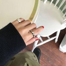 Amaiyllis  925 Sterling Silver Vintage Twist Weave Open Rings Industrial Wind Texture Creative For Women Jewellery