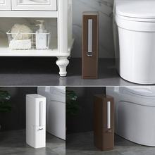Narrow Plastic Trash Can Set Toilet Brush Bathroom Waste Bin Garbage Bag With Lid Container Dustbin 4L