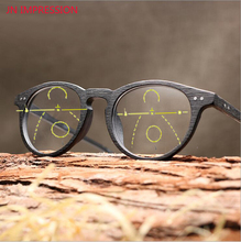 Wooden Smart Zoom Asymptotically Multifocal Progressive Bifocal Reading Glasses High Quality Presbyopia Hyperopia Gafas