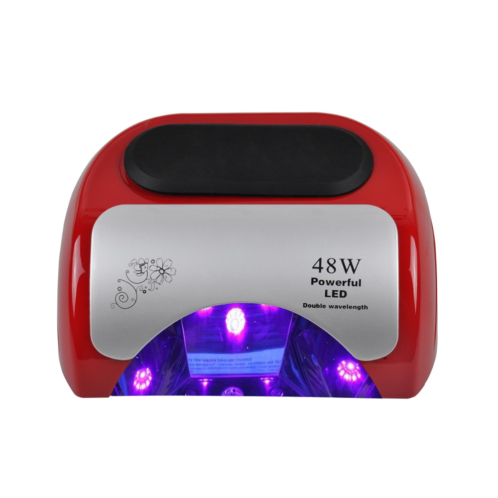 48W Nail Dryer LED Lamp for Curing Nail Gel Polish Automatic Sensor Timer Manicure Nail Lamp with LCD Display Nail Art Tool 12w led nail dryer curing lamp machine nail art tool automatic timer for uv gel nail polish fast drying new style top quality