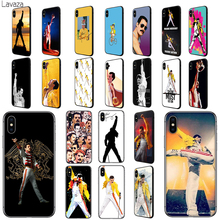 Lavaza Freddie Mercury Queen band Soft TPU Case Cover for Apple iPhone 6 6S 7 8 Plus 5 5S SE X XS MAX XR Silicone Cases mercury goospery i jelly case for iphone se 5s 5 metallic finish tpu cover black