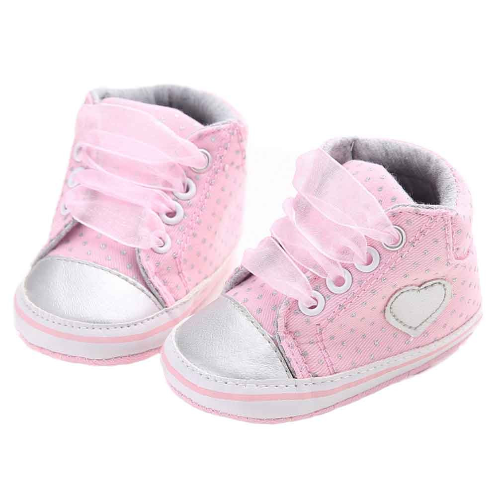 ISHOWTIENDA 0 to 18 month Baby Girl Canvas Shoe Heart shape Shoes Sneaker Anti-slip Soft Sole Toddler toddler shoes #15