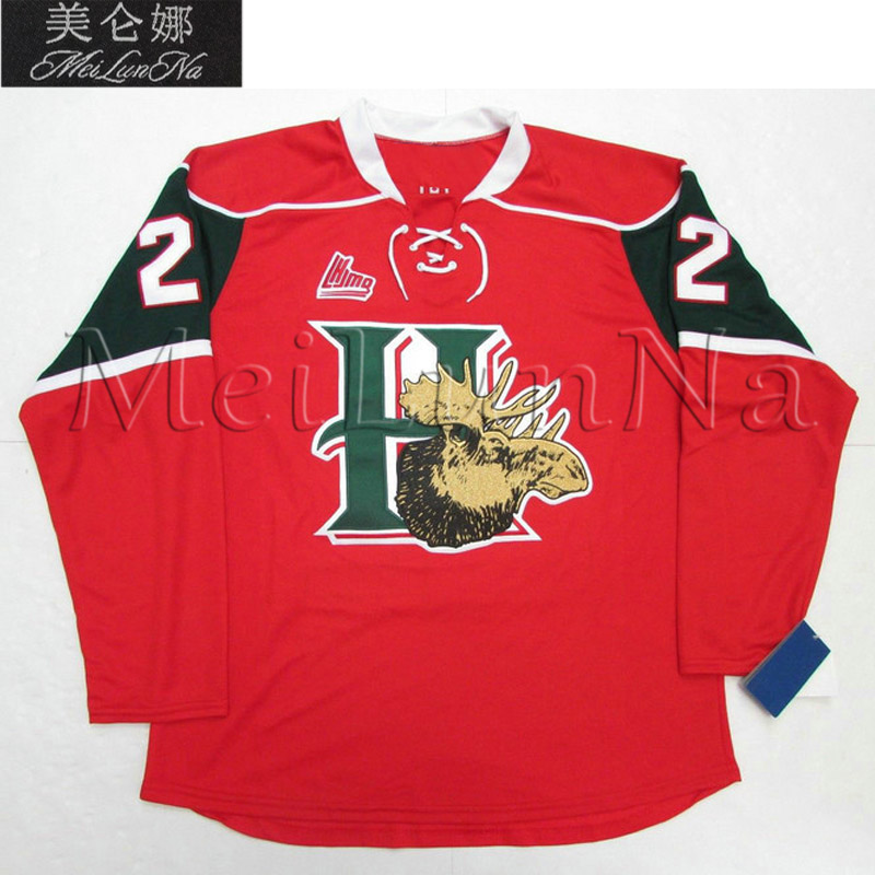 MeiLunNa Customize QMJHL Halifax Mooseheads Jerseys 22 Nathan MacKinnon 13 Hischier 24 Ehlers 25 Shelley Sewn On Any Name NO. no name xh b160 24 26