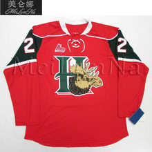 MeiLunNa Customize QMJHL Halifax Mooseheads Jerseys 22 Nathan MacKinnon 13  Hischier 24 Ehlers 25 Shelley Sewn On Any Name NO. 7dfec4c73