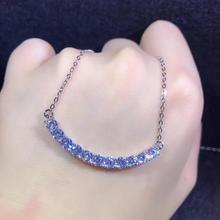 D Color VVS1 Moissanite Smile S925 Silver Platinum Plated Pendants 11*3.5mm Carat Moissanite Pendant Necklace Round Free Chain