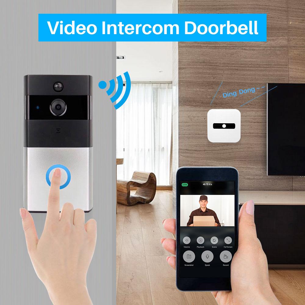 Image 5 - Smart Video Doorbell Camera IP Door bell Two Way Video Intercom PIR Monitor Alarm Remote Home Monitoring Via Smartphone APP-in Doorbell from Security & Protection