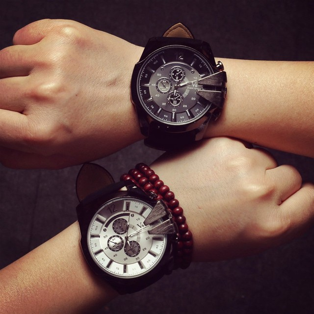 9baff75d35f Watches Men Sport Relogio Masculino Men s Quartz Watch Casual Leather Big  Dial Luxury Business Wristwatch Mens Clock Hours 2019