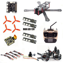 FPV drone QAV-R 220mm QAV 210 220 quadcopter AT9S carbon frame F3 6DOF Wdiy 2204 2300kv motor WST 12A ESC CC3D LED 12V
