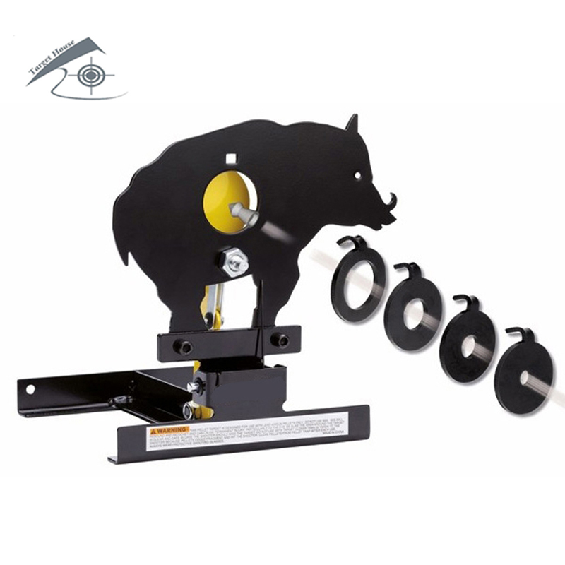 Airgun Boar Field Target W. 4 Bullseyes' Ring /Also For Airsoft Paintball Shooting цена