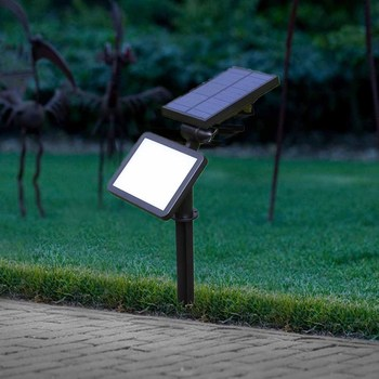 LED Solar light Rotation Grass Light Solar panel Charging Sunshine Ourdoor Intelligent Light Control Path Ground Square