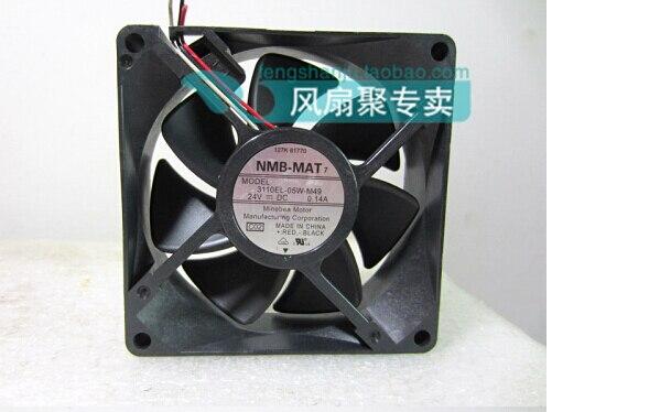The original NMB-MAT 8cm8025 24V0.14A 3110EL-05W-M49 80*80*25MM copier 3 lines radiating fan радиатор охлаждения газ 3110 медный 3 рядный