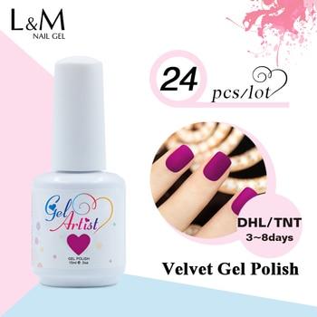 24Pcs Gelartist Velvet Matte Free Shipment Gel Polish DIY Nail Art Color Gel Professional Uv Lamp Soak Off