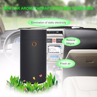 Portable Car USB Ultrasonic Aroma Humidifier Car Aroma Essential Oil Diffuser Fresher Aromatherapy Mist Maker 55ML Free Ship