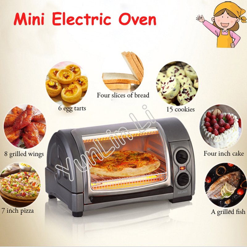 Pizza Machine Multifunctional Mini Oven 220V Household Electric Oven Cake Machine Toaster 31334-CN 220v aux 9l multifunctional electric oven household bread cake pizza baker machine automatic barbecue electric oven