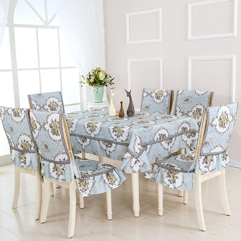 Европейский стиль, 5 цветов, настольный цветок из текстиля, Rrinted 9 шт./компл., скатерти, уличные скатерти, вечерние, свадебные скатерти - 3