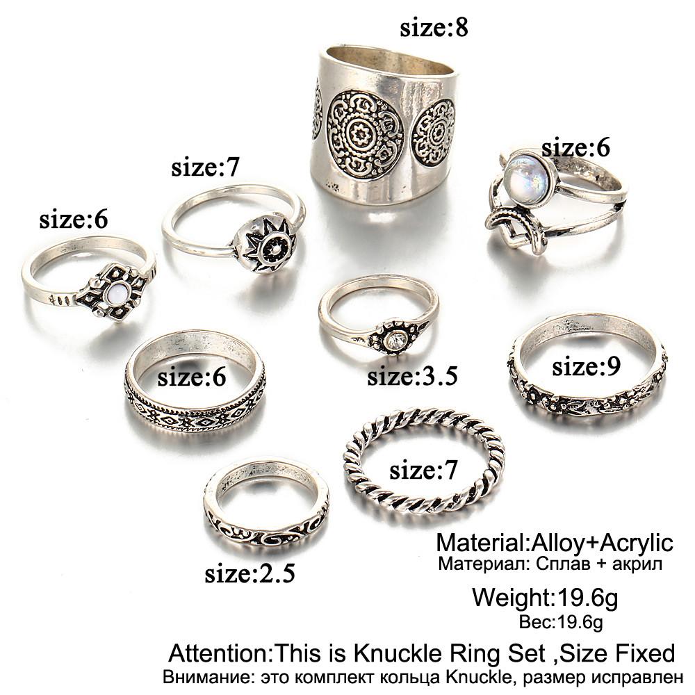 HTB1eZfcRFXXXXafXXXXq6xXFXXXU 9-Pieces Antique Style Turkish Knuckle Ring Set For Women - 2 Colors