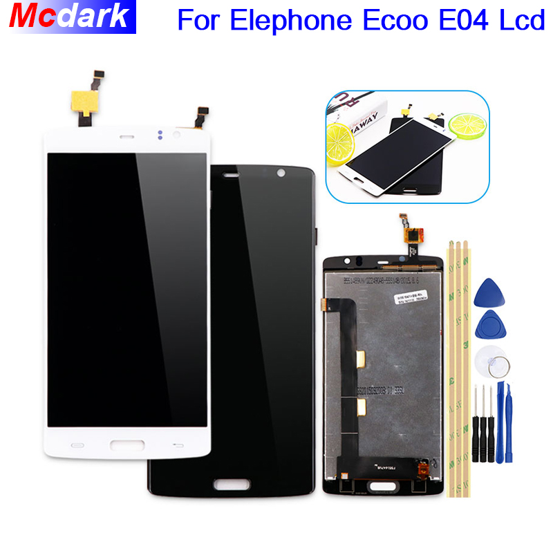 For Elephone ECOO E04 LCD Display and Touch Screen Digitizer MTK6752 3GB RAM 16GB ROM Assembly Replacement +Tools And Adhesive