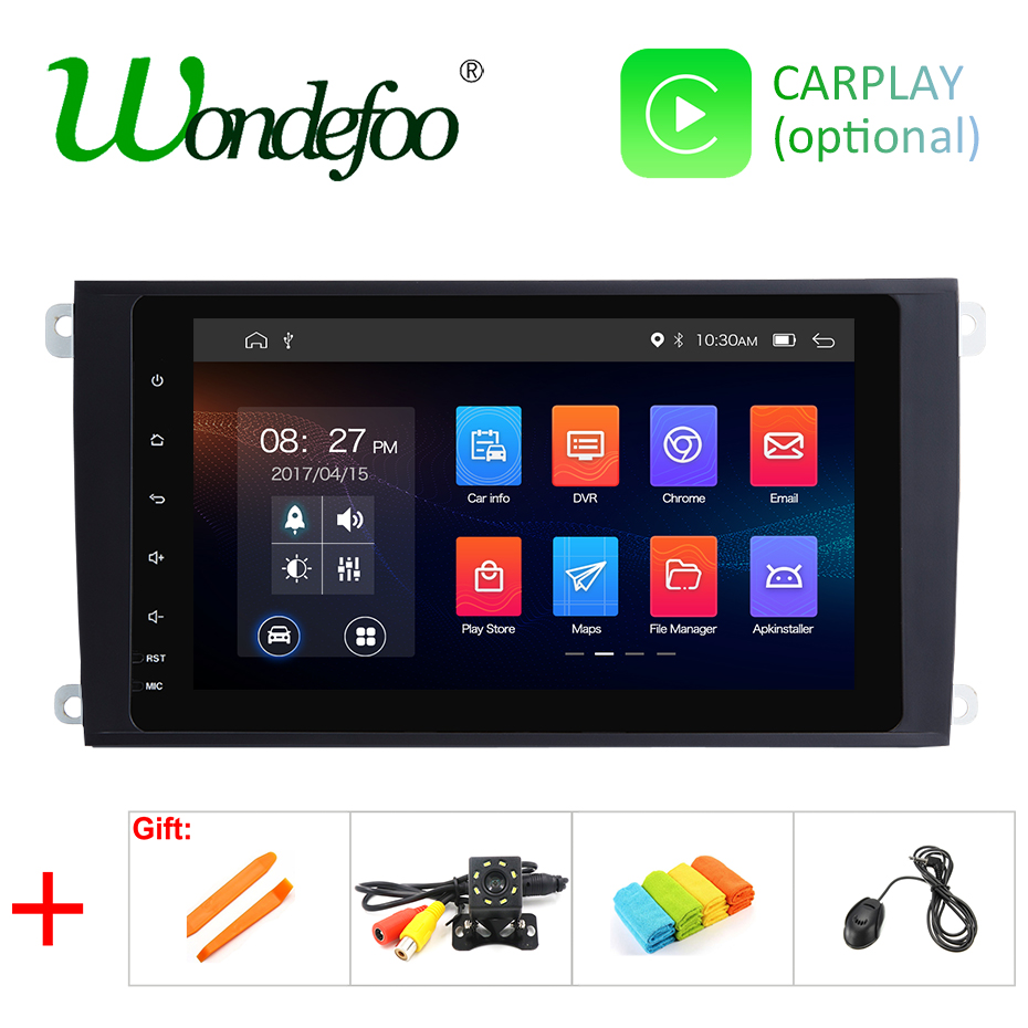IPS DSP Android 9 0 64G 2 Din Car DVD PLAYER for Porsche Cayenne 2003 2010
