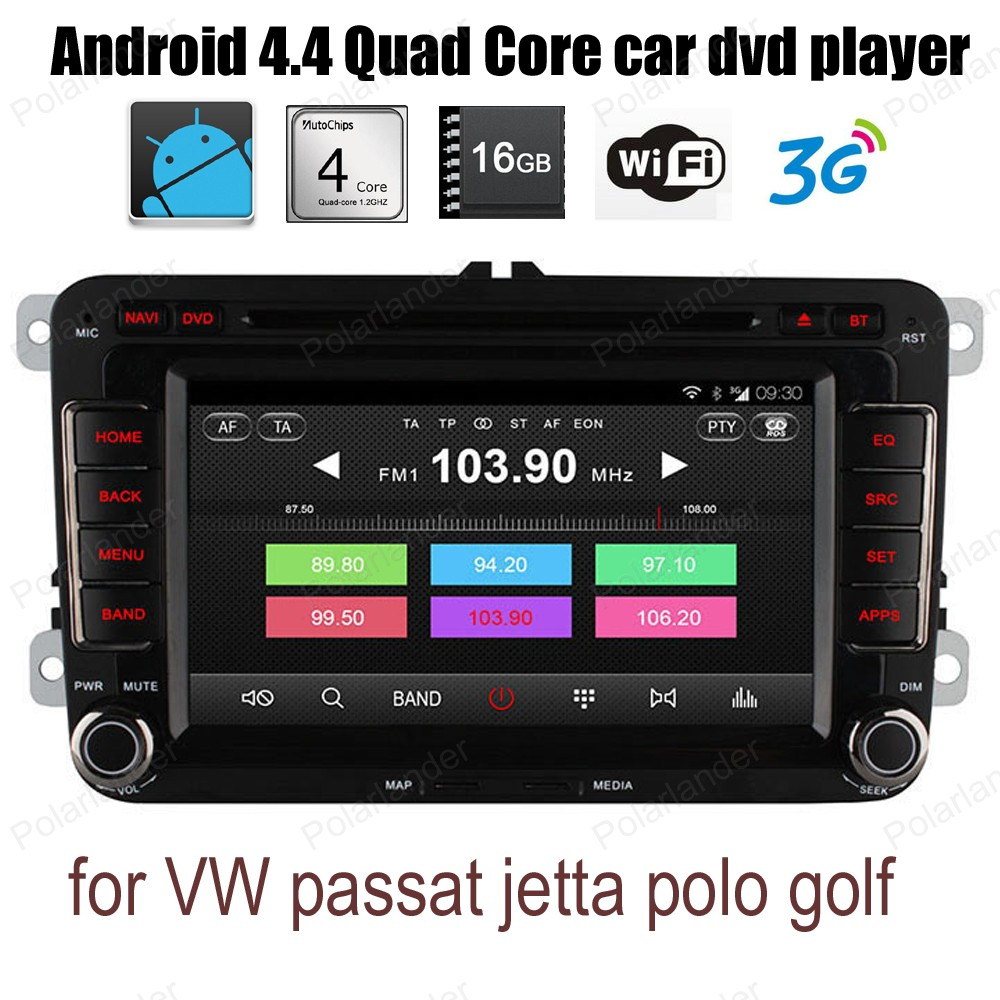 Android4 4 Quad Core For VW passat jetta polo golf radio DVD support wifi 3G BT