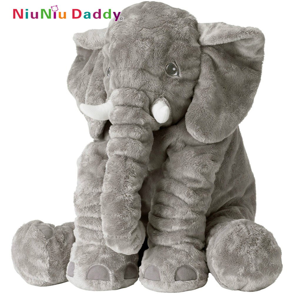 Niuniu Daddy 60cm Baby Elephant Pillow Elephant Plush Toys Cute Dolls Soft Pillows Baby Sleeping Plush Pillow doll birthday Gift letter word printing soft plush square pillow case