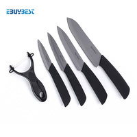 Kitchen Knife Set Zirconia Ceramic Knife 3 4 5 6 Inch Peeler Covers Black Blade Paring