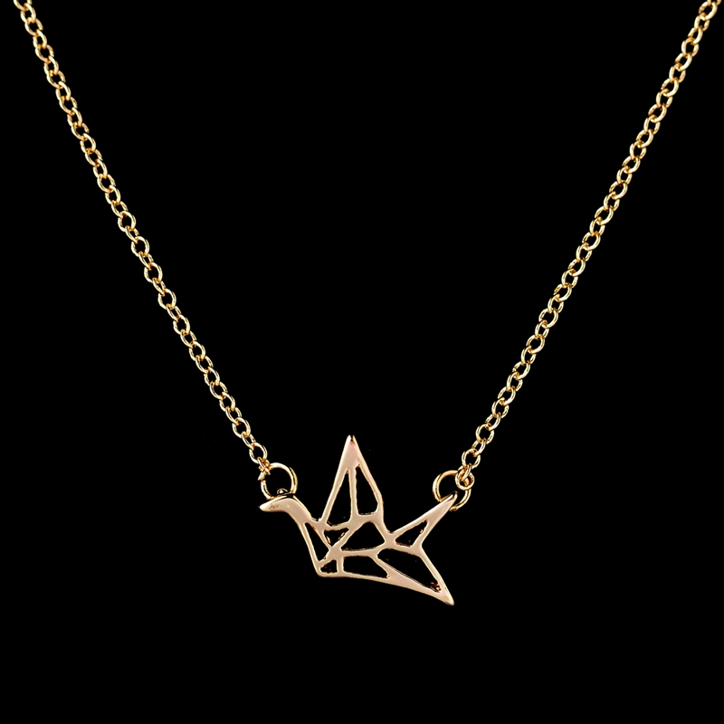 2017 New Fashion Friendship Handgjorda Halsband Lovely Origami Crane - Märkessmycken - Foto 4