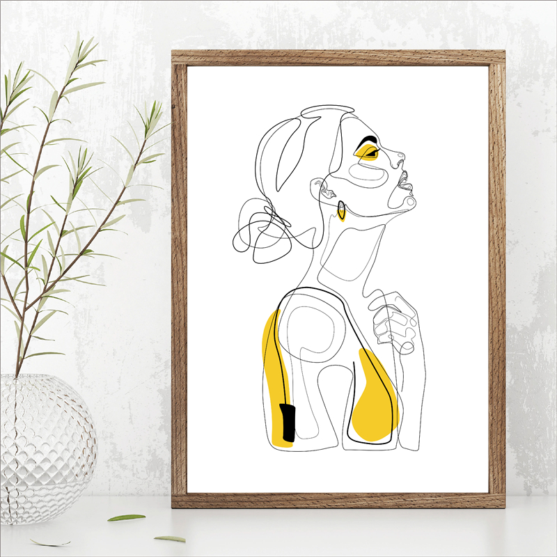 Printable Yellow Fashion Sketch