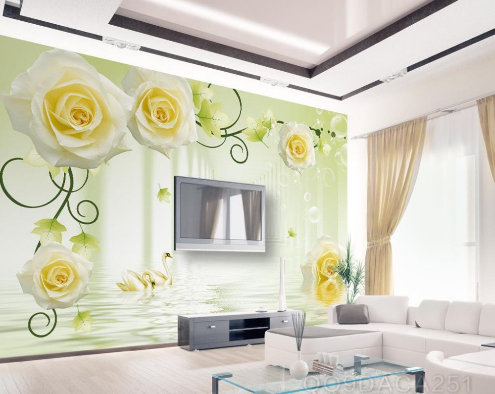 Online Buy Wholesale Yellow Rose Wallpaper From China Yellow Rose