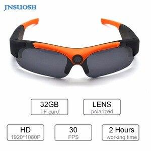 Image 1 - HD חכם 1080P 16GB/32GB מצלמה חכם משקפיים שחור/כתום מקוטב עדשת משקפי שמש מצלמה פעולה DVR ספורט וידאו מצלמה Glasse