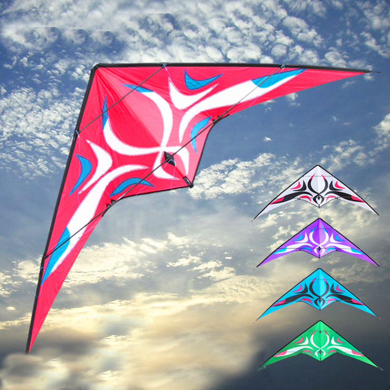 free shipping high quality 2.7m porcelain dual line stunt kite surf with handle line weifang kite outdoor toys albatross kite