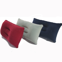 car Air Inflatable Pillow Double Sided Flocking Cushion for Plane camping Hotel Color in random
