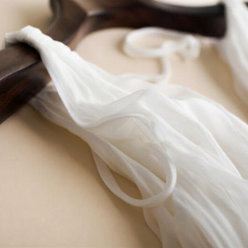 Pakaian Sutera Wanita Elegant Beach White Long dress V-leher Gaya - Pakaian wanita - Foto 5