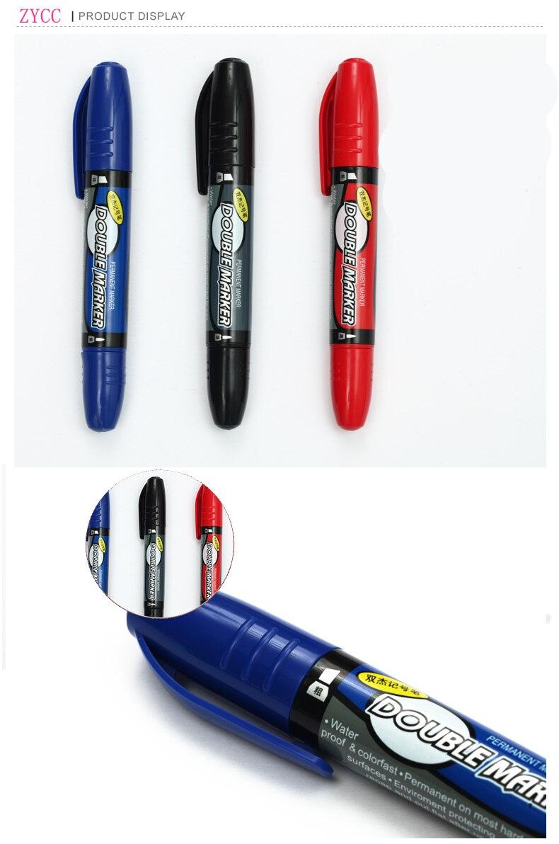 1 шт. Высокое качество большой емкости Маркеры Черный Синий Красный цвет чернил быстрая сушка не выцветает водонепроницаемый