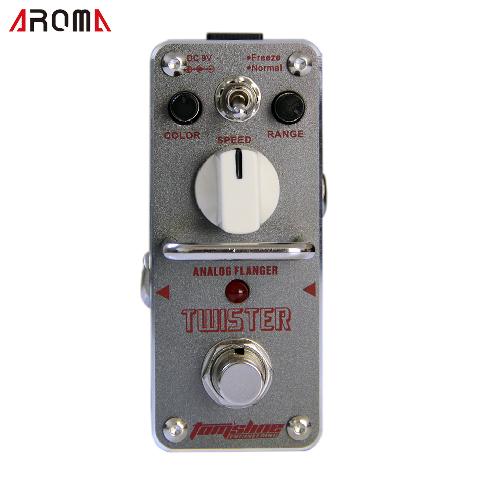 AROMA ATR-3 TWISTER Vlave combo simulator - overdrive Mini Analogue Effect True Bypass aroma adr 3 dumbler amp simulator guitar effect pedal mini single pedals with true bypass aluminium alloy guitar accessories