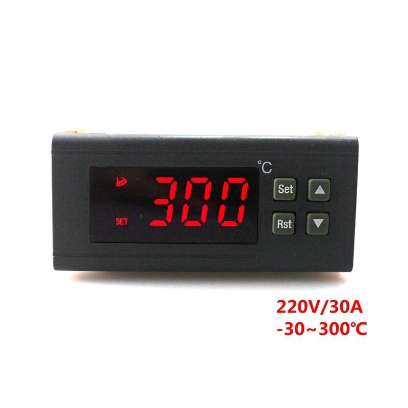 RC-114M 220 V/30A Regulador de Temperatura Digital Controlador Do Termostato-30 ~ 300C com Sensor NTC