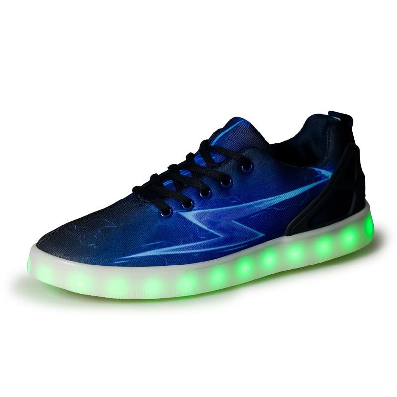 LED Flash Shoes 2017 Fashion Quality LED Lights USB Charging Colorful Shoes Led Casual Chaussure Lumineuse