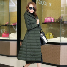 2016 new hot winter Thicken woman Down jacket Coats Parkas Outerwear Hooded long plus size 3XXXL High end Slim Cold Exceed knee