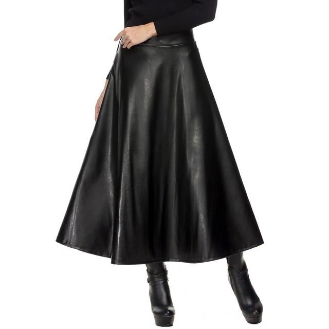 Aliexpress.com : Buy Women Skirt Folds PU Leather Skirt England ...