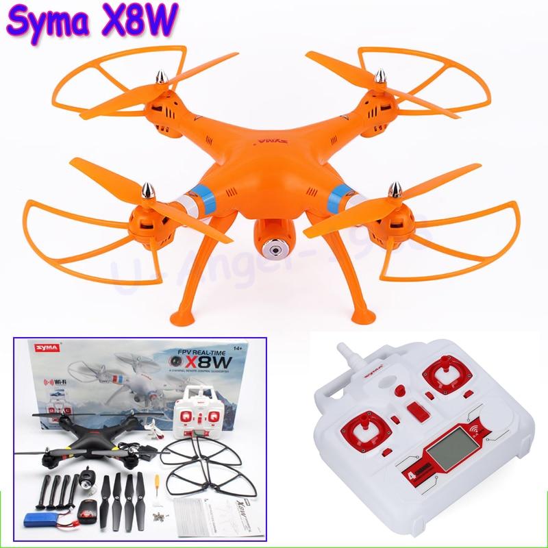 Original Syma X8W FPV 2.4Ghz Headless RC Quadcopter Drone UVA 2MP Wifi Camera RTF with Holder As Gift