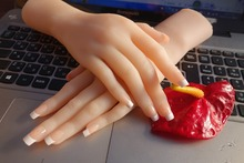 Solid SiliconFemale Hands font b Sex b font font b Doll b font Real Skin realistic