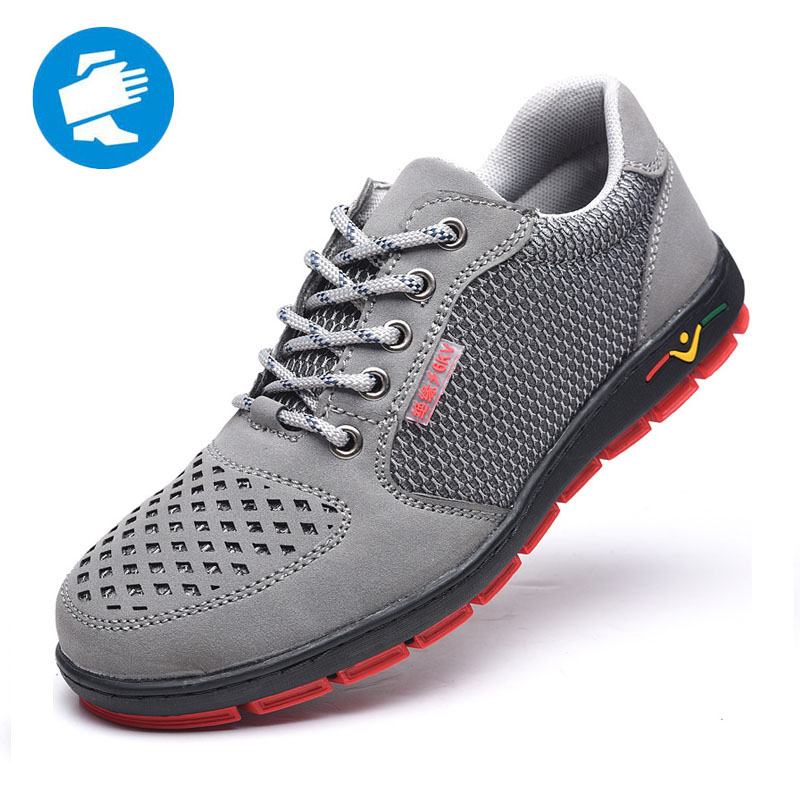 VIP6Kv Insulating Men Safety Shoes Breathable Lightweight Fashion Men's Casual Shoes Electrician Work Boots Lightweight Sneakers
