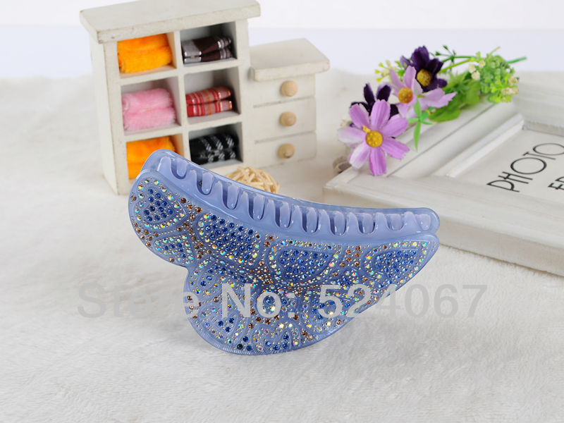 Wholesale Hot Sale Free Shipping 12cm Big Classic Acrylic Jeweled Hair Claws Free Shipping