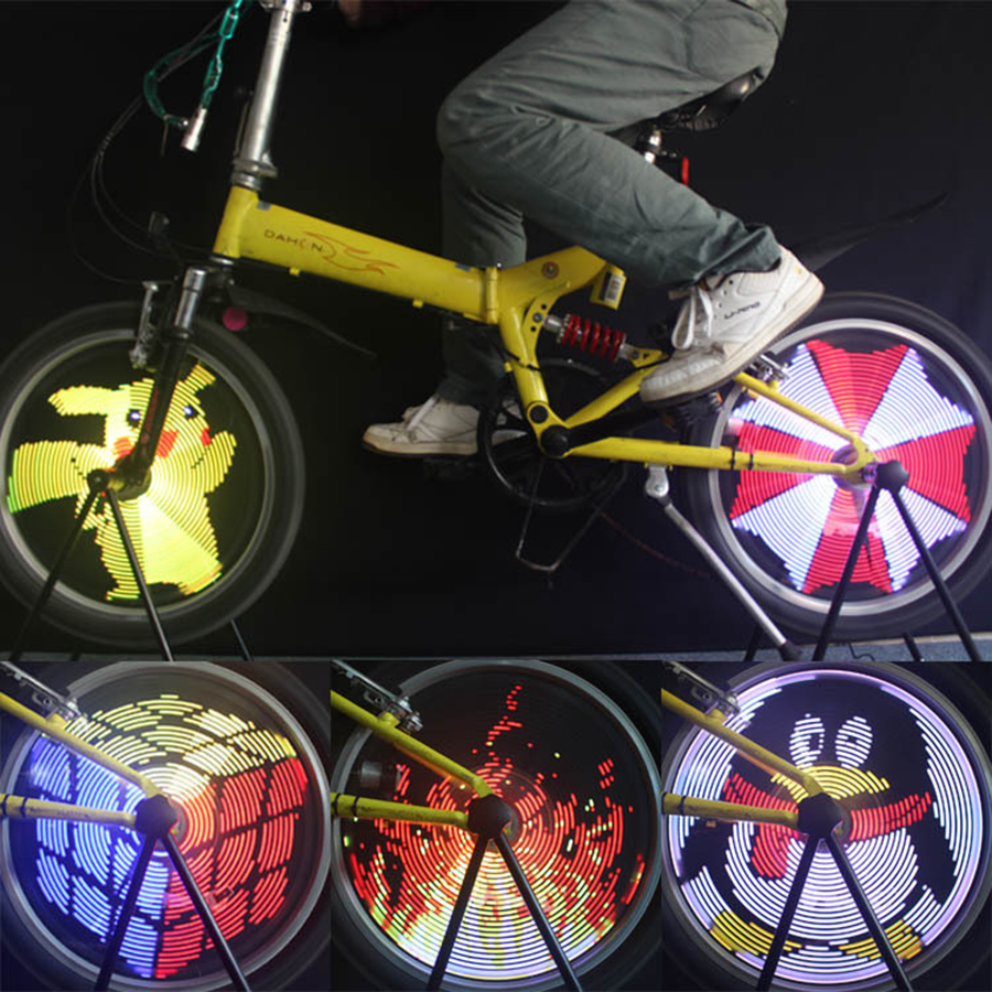 DIY LED Programmable Cool Pictures Bicycle Bike Spoke Flash Tyre Wheel Lights