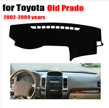 Tampa Do painel do Carro Para Toyota Prado velho RKAC 2002 a 2009 Lelf movimentação da mão tampa do traço mat Evite luz pad almofada de mesa acessórios